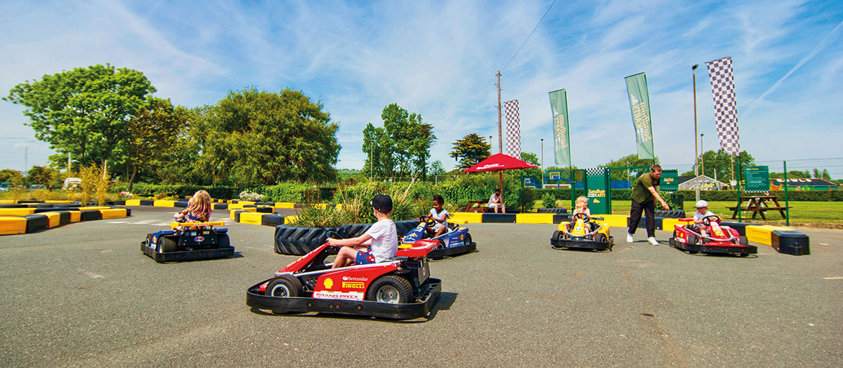 Karting at Sandham Gardens
